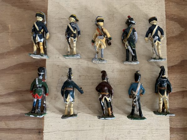 Lot de 10 anciens soldats de plombs : Régiments Corses