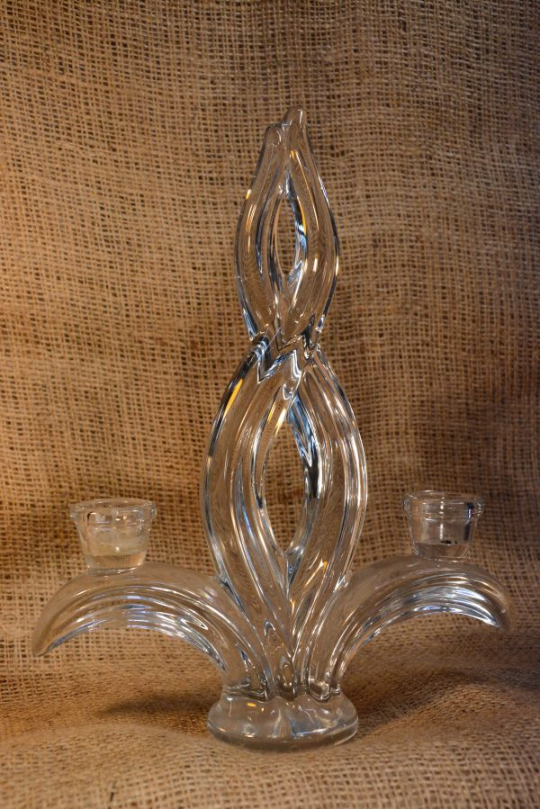 Bougeoirs cristal Vanne