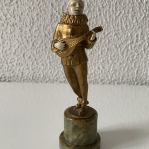 Ancien Pierrot - Bronze et ivoire - Chryselephantine